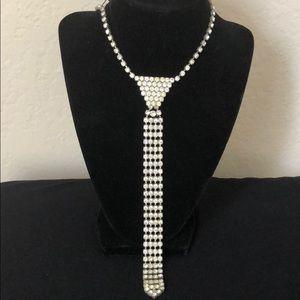 Rhinestone Necktie